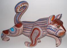 Oaxacan Wood Carvings - Alebrijes, Oaxacan Animals. Artist: Jacobo Angeles.