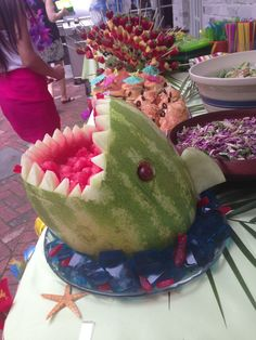 Dinosaur Head Watermelon Fruit Bowl … | DINOSAURS | Pinte…