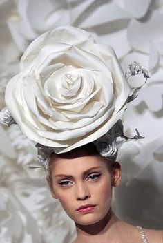 chanel paper headpiece
