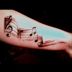 Music tattoo, thinking about ittttt