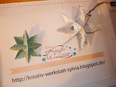 make stars with the envelope punch board Sylvia's-Kreativ-Werkstatt Sylvia Michael unabhängige Stampin'Up! Demonstratorin Kreativ Werkstatt