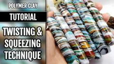 DIY Twisting&Squeezing Technique - Recycling the Polymer Clay Scraps and...