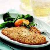 Herbed Parmesan Panko Baked Flounder