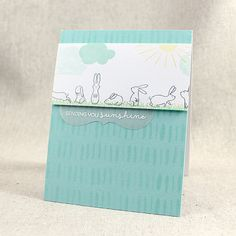 Sending You Sunshine Card by Lizzie Jones for Papertrey Ink (February 2016)
