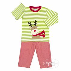 17ead57ef64 Zuccini Reindeer Applique Boys Christmas Pants Set from Madison-Drake  Children s Boutique