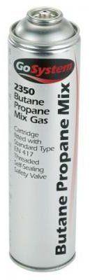 GoSystem Butane/Propane (70:30) Gas Cartridge - Silver, 350 g