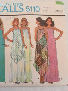 70s Draw string halter dress tunic top pants by LynnsLittleShop