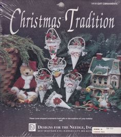Gift Ornament Kit by Designs for the Needle Christmas Tradition Cones Gifts NIP