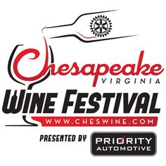 Chesapeake Virginia Wine Festival on Saturday October 8, 2016;Chesapeake City Park.; Wine , Music, Food ; Fun.; All for Charity. Virginia Wineries ;  International Village