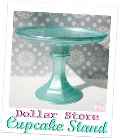 "PitterAndGlink: {My Vacation & a Dollar Store Cupcake Stand}  Note: I found this new blog with the cutest ""cupcake stand"" tutorial.  Cupcakes are my favorite!"