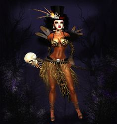 """Kioni is a voodoo priestess, and often referred to as the """"Voodoo Queen"""" though…"""