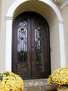 Full Glass Iron Double Door Clark Hall Iron Doors Charlotte, NC