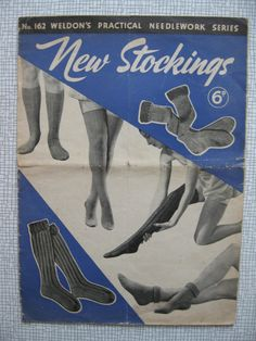1941 New Stockings Knitting Booklet - Socks- 10 Patterns - Weldons - WW2 - Vintage - 1940s - Men & Women - PDF
