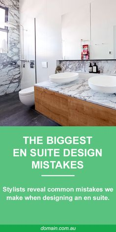 The most common mistake renovators make when designing an en suite is looking to hotel and resorts for inspiration. Sure they look gorgeous, but they are not necessarily practical in a domestic situation.   Here the experts reveal the most common mistakes we make when planning a dream en suite.