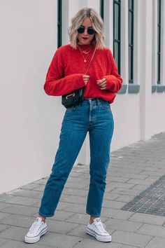 ❁ looks Jeans Jeans Größe 28 Jeans - der Liebhaber What To Do When Your Baby Won't Wear Clothes Jeans Outfit Winter, Mom Jeans Outfit, Winter Fashion Outfits, Winter Outfits, Mom Jeans Style, Boyfriend Jeans Outfit, Mode Outfits, Jean Outfits, 80s Jeans