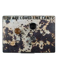 This 'Loved Like Crazy' Metal Frame & Magnet Set by Blossom Bucket is perfect! #zulilyfinds
