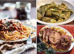 Sunday Lunch in Tuscany: spaghetti al ragù, arista con patate e carciofi saltati... Buon appetito!