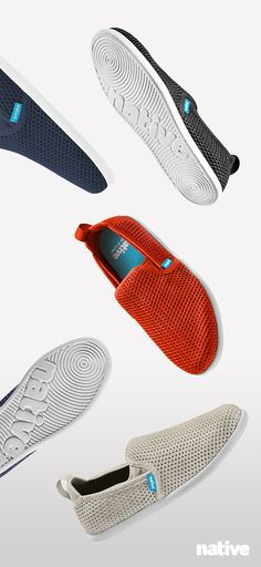 Our slipper-solution has arrived: a low profile silhouette with a breathable and flexible mesh upper, built upon the Venice outsole. Beachfront breezes await.⠀ Welcome the Native Shoes Cruz! #keepitlite #beastfree⠀