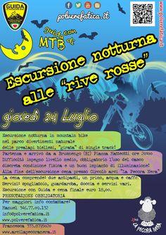 Escursione notturna in mountain bike  PRENOTAZIONE OBBLIGATORIA Per maggiori info  www.polverefatica.it www.arcilapecoranera.it