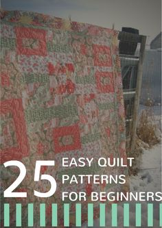 25 Easy Quilt Patterns for Beginners + 7 New Quilt Patterns | AllFreeSewing.com
