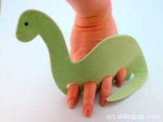 Diplodocus Dinosaurs Felt Finger Puppet Pattern 6