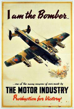 Motor Industry Association world war two poster bomber