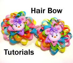 Instant Download  How To Make Ribbon Flower Hair by tiarasnbows, $8.00