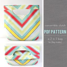 Convertible Clutch / 2 in 1 Bag Pattern by lbg studio