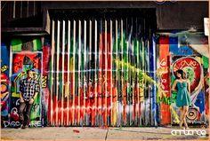 Engagement shoot at the Wynwood Walls  #Downtown #Miami #graffiti