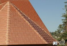 Copper Shingle roof by Future Roof- Copper Roof, Metal Roof, Types Of Roof Shingles, Steel Siding, Cottage Exterior, Corrugated Metal, Roofing Contractors, Roof Repair, Life Is Good