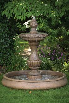 Savona Fountain on Classic Pool Garden Sculpture Stone Garden Fountains, Concrete Fountains, Garden Stones, Vertical Pallet Garden, Classic House Design, Hardscape Design, Landscape Materials, Lawn Ornaments, Low Maintenance Garden