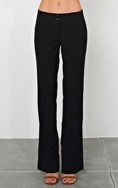 #FashionVault #styles for less #Women #Bottoms - Check this : Be Ready Woven Slacks - - Black in Size by Styles For Less for $19.99 USD
