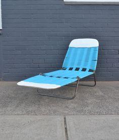 Vintage Banana Lounge Blue Japan Outdoor Furniture