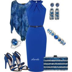 """blue"" by gaitriesharda on Polyvore"