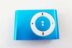 Kids' MP3 Players - Metal Mini Clip MP3 Player supports up to 8Gb TF card  micro SD card  Lite Edition Special  Guaranteed by The Magic Toys Factory Ltd TM Blue -- Click image for more details.
