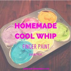 Homemade Cool WIhp fingerpaint | Easy DIY Summer Crafts & Activities | Austin Moms Blog