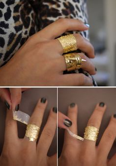 How to Wear Gold Leaf | Makeup, Nails, Body Art  Faux Jewelry