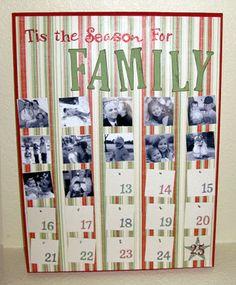family photo advent calendar
