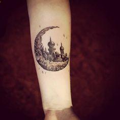 #blackandgrey #moon #tattoo