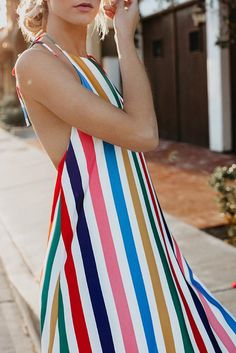 709db63d40 Sexy Fashion Stripe Vacation Maxi Dress – PINKSIA Backless Maxi Dresses