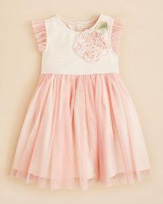 Pippa & Julie Girls' Stripe Bodice Dress - Sizes 4-6