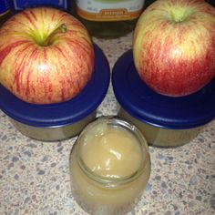Home made organic apple sauce... All you need is a bag of organic apples, a cinnamon stick, ground cinnamon, sugar, and honey. (all ingredients organic) wash peel and cut apple, boil with one cinnamon stick until soft, put apples in blender with a little of the water they were boiled in, honey, sugar and cinnamon for sweetness and your done!!! Tasty and good for ya too, great for babies and kids with diareah... Enjoy