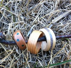 Bent Wood Rings. Link for a terrific and easy to follow tutorial. Uses veneer and superglue. Can imbed crushed stone and has a tutorial for that too.