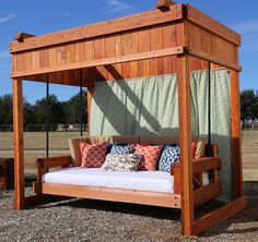 This outdoor day bed swing is the perfect addition to your outdoor living space. Outdoor Daybed, Outdoor Play, Outdoor Living, Outdoor Furniture, Outdoor Decor, Lawn And Garden, Living Spaces, Backyard, Outdoors