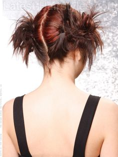 brunette-side-buns-red-highlights-view-2