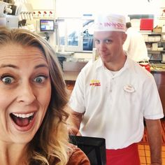In-N-Out in RSM has a hot new associate! {Local friends visit Brad for his day in the store!}
