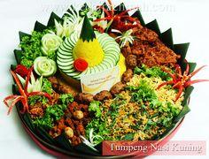 Tumpeng Nasi Kuning One of Indonesian Traditional Food