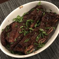 First time making galbi (Korean short ribs). Turned out quite tasty! [OC][2500x2500] http://ift.tt/2knGWQe