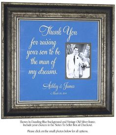 Personalized Wedding Picture Frame Parents Gift bridal shower ...
