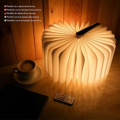 Led Book Light Wooden Folding Lamp with Remote Control, 12 Colours & Timer – BONNYCO   Table Book Lamp Night Light Perfect for Home, Office & Room Decor   Christmas & Birthday Gifts for Men and Women[Energy Class A] Christmas Birthday, Birthday Gifts, Book Lamp, Night Light, Table Lamp, Room Decor, Colours, Ceiling Lights, Led